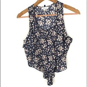 Ruffled front floral top small